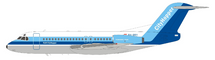 NLM CityHopper Fokker F-28-4000 Fellowship PH-BBV With Stand