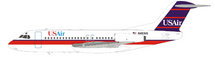 USAir Fokker F-28-4000 Fellowship N493US With Stand
