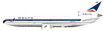 Delta Air Lines DC-10-10 N902WA Polished With Stand