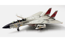F-14A Tomcat Diecast Model USN VF-31 Tomcatters, AE202, USS Forrestal (Weathered Version Ink on Panel Lines)