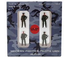 USN, 4-Piece Pilot Figure Set Alpha