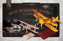 PT-17 Stearman Kaydet RTA Solid Mahogany Wood Model Kit Mastercraft Models