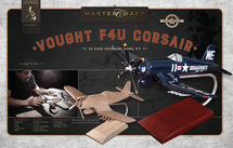 F4U Corsair RTA Solid Mahogany Wood Model Kit Mastercraft Models
