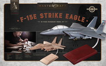 F-15 Eagle RTA Solid Mahogany Wood Model Kit Mastercraft Models