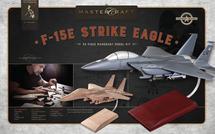 F-15 Eagle RTA Solid Mahogany Wood Model Kit Mastercraft Models