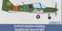 Scottish Aviation Sk 61 Bulldog Swedish Air Force