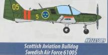 Scottish Aviation Sk 61 Bulldog Swedish Air Force