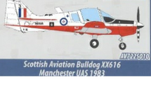Scottish Aviation Bulldog XX616, Manchester University Air Squadron, RAF Volunteer Reserves