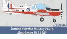 Scottish Aviation Bulldog XX616, Manchester University Air Squadron, RAF Volunteer Reserves