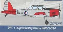 Canada DHC-1 Chipmunk T.10 WB671, Royal Navy