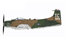 A-1H Skyraider USAF 56th SOW, 1st SOS, #53-134609, Nakhon Phanom RTAFB, Thailand, Vietnam War 1968