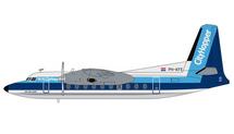 KLM F27 Friendship, PH-KFE Gemini 200 Diecast Display Model