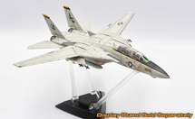 F-14A Tomcat Diecast Model USN VF-142 Ghostriders, AG200, USS Dwight D. Eisenhower (Weathered Finish, Ink on Panel Lines)