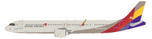 Asiana Airlines Airbus A321-251NX HL8364 with stand