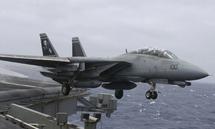 F-14D Tomcat USN VF-31 Tomcatters, NK100 Santa Cat, USS Abraham Lincoln, Operation Iraqi Freedom, December 2002