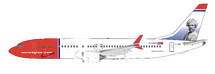 Norwegian Air Shuttle Boeing 737-8 MAX LN-BKB Mark Twain plus stand
