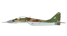 MiG-29 Fulcrum-A Polish Air Force 1st Fighter Aviation Rgt, Red 77, Minsk-Mazowiecki AB, Poland, 1996