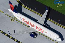 "Delta Air Lines A321-200 N391DN ""Thank You"" Gemini 200 Diecast Display Model"