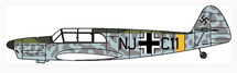 Bf 108 Taifun NJ+C11, Luftwaffe, World War II