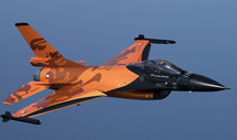 F-16AM Fighting Falcon RNLAF Demo Team, J-015 The Orange Lion, Volkel AB, Netherlands, 2009