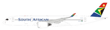 South African Airways Airbus A350-941 ZS-SDF with stand