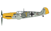 Bf 109E Luftwaffe 6/JG 51, Yellow 1, Josef Priller, Saint-Inglevert Airfield, France, Autumn 1940