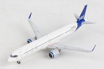 Scandinavian Airlines A321neo, SE-DMO New Livery Gemini Diecast Display Model