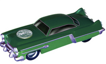 "Car and 4"" Two-Face Figure 1950s Two Tone"