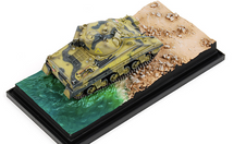 "Sherman III British Army Royal Wiltshire Yeomanry, ""Barford St.Martin"", North Africa, 1943, Beach Landing Diorama"