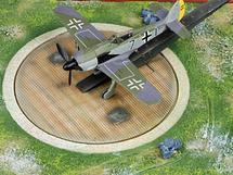 "FW-190A-3 German ""Black 7"" Staffelkapitan 8./JG 26 with Compass Platform"