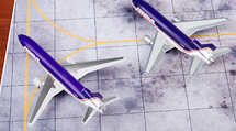 DC-10 and MD-11F Federal Express, N68055 N608FE, 2-Piece Set 1:400 Scale