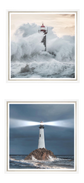 "Trowbridge Prints ""Ray of Light"" & ""Crashing Waves"" - A Pair"