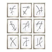"""Trowbridge """"Chirographic Abstracts"""" by Charlotte Morgan - Set of 9"""