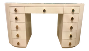 Lillian August for Hickory White Adrienne Oval Reeded Vanity/Desk