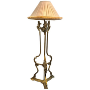 Louis XVI Style Bronze Figural Putti Floor Lamp, in the Manner of François Linke