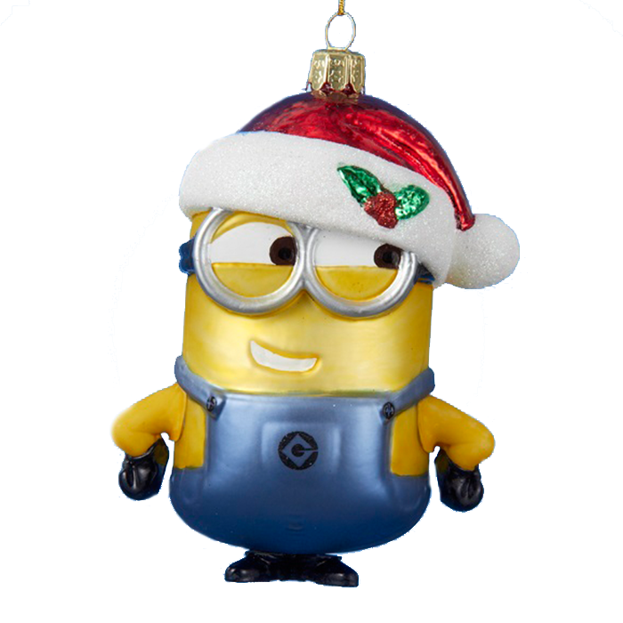 Despicable Me Minion Glass Christmas Ornament