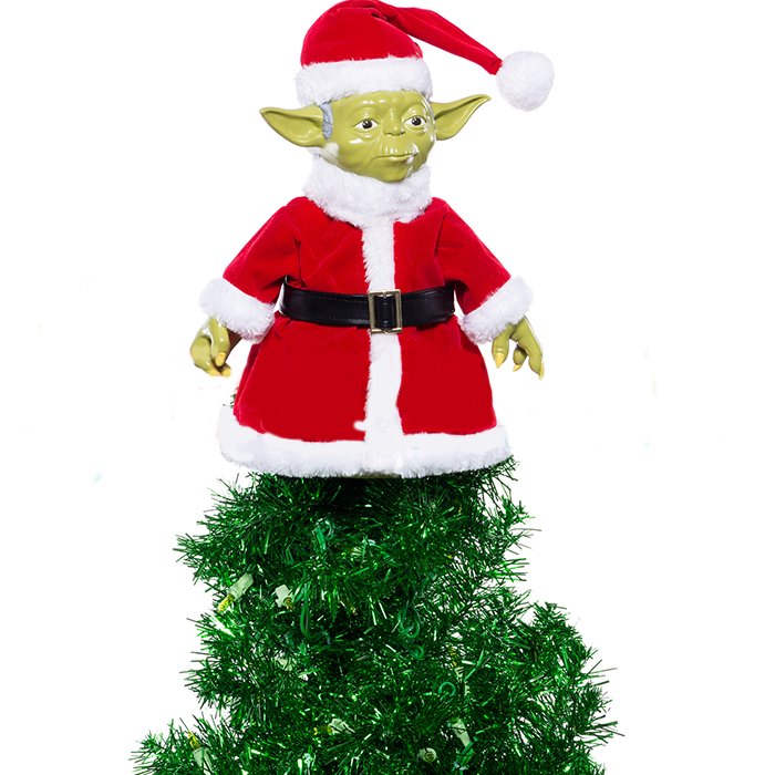 Santa Hat Christmas Tree Topper: Star Wars Santa Yoda Tree Topper