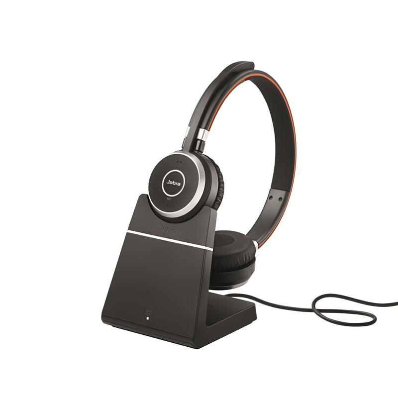 fad15e856ac Jabra Evolve 65 Bluetooth Stereo Headset Bundle | MS Version | Bonus Mic  Cushions, USB