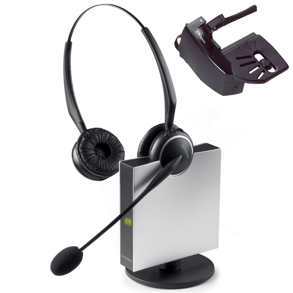 Jabra GN9125-Duo Wireless Headset Bundle includes Remote Answer Kit |  Certified Cordless Headset for: Cisco, Avaya, Siemens - Unify, Aastra -  Mitel,