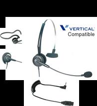 Comdial Vertical Compatible Tria 3-in-1 Convertible Noise Canceling Headset 1920 Plug-n-Play | For MBX, SBX IP Phones: 320, DX-80, 7260 | Edge 120, 700, 4000, 8000, DECT Cordless, Vodavi Starplus STS (VXI-202795-DC-2.5)