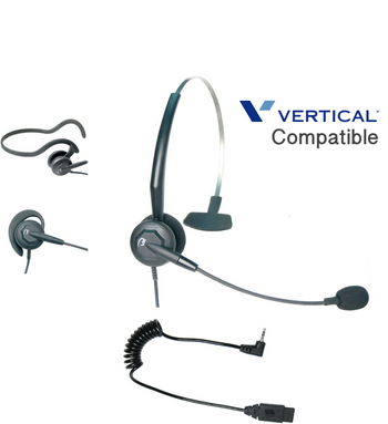 Comdial Vertical Compatible Tria 3-in-1 Convertible Noise Canceling Headset 1920 Plug-n-Play | For MBX, SBX IP Phones: 320, DX-80, 7260 | Edge 120, 700, 4000, 8000, DECT Cordless, Vodavi Starplus STS (VXI-202795-DC-2.5)