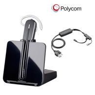 Polycom Compatible Plantronics VoIP Wireless Headset Bundle with Electronic Remote Answerer (EHS) included | SoundPoint® Phones: IP 335, IP 430, IP 450, IP 550, IP 560, IP 650, IP 670, VVX300, VVX500, VVX310, VVX600, VVX400, VVX1500, VVX410