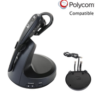 Polycom Compatible VXI VoIP Wireless Headset Bundle with Electronic Remote Answerer (EHS) included | Convertible Model | SoundPoint® Phones: IP 335, IP 430, IP 450, IP 550, IP 560, IP 650, IP 670, VVX300, VVX500, VVX310, VVX600, VVX400, VVX1500, VVX410