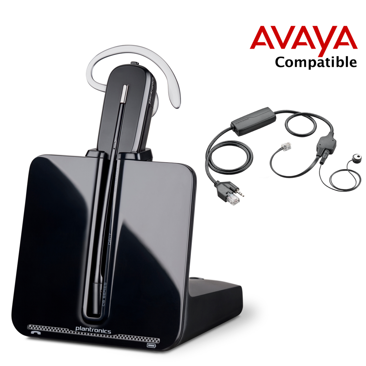 Avaya Compatible Plantronics VoIP Wireless Headset Bundle | Electronic  Answerer included | Avaya Phones: 1408, 1416, 1608, 1616, 2410, 4630, 9404,