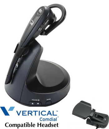 Comdial Vertical Compatible VXI V150 Wireless Headset Bundle   Remote Answerer Included  For MBX, SBX IP Phones: 320, DX-80, 7260   Edge 120, 700, 4000, 8000,  