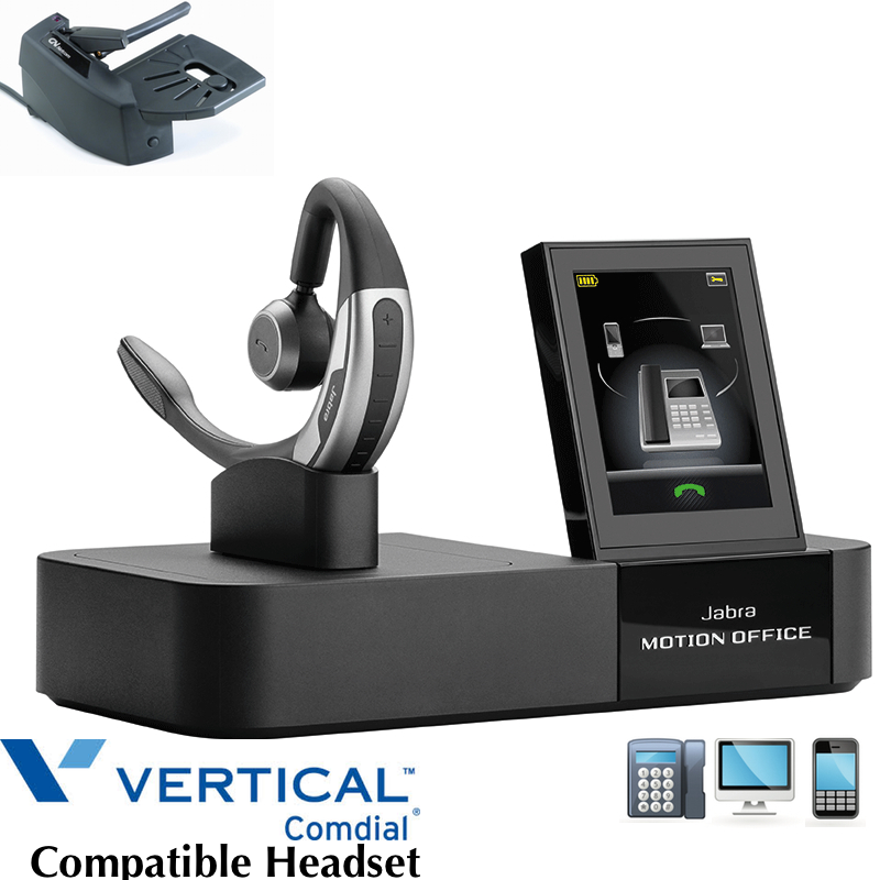 Comdial Vertical Compatible Jabra Motion Office | Desk, PC-MAC & Smartphone  |Remote Answerer Included| For MBX, SBX IP Phones: 320, DX-80, 7260 | Edge