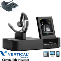 Comdial Vertical Compatible Jabra Motion Office Wireless Headset Bundle | Remote Answerer Included| For MBX, SBX IP Phones: 320, DX-80, 7260 | Edge 120, 700, 4000, 8000, | Vodavi Starplus STS (GN 6670-904-105-B-C