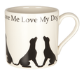 Mug Love Me Love My Dog Labrador Pattern