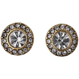 Pilgrim Stud Earrings Gold Plated Crystal 60133-2063