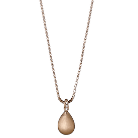 Pilgrim Necklace Rose Gold Plated 40 cm 60143-4081